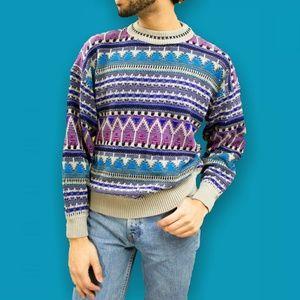 VTG 90s multi color sweater